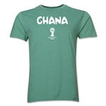 Ghana 2014 FIFA World Cup Brazil(TM) Men's Premium Core T-Shirt (Heather Green)