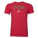 Portugal 2014 FIFA World Cup Brazil(TM) Men's Premium Elements T-Shirt (Heather Red)