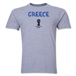 Greece 2014 FIFA World Cup Brazil(TM) Men's Premium Core T-Shirt (Grey)