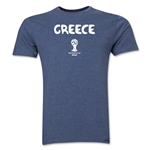 Greece 2014 FIFA World Cup Brazil(TM) Men's Premium Core T-Shirt (Blue)