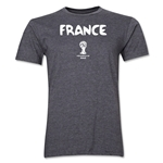 France 2014 FIFA World Cup Brazil(TM) Men's Premium Core T-Shirt (Dark Grey)