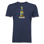 1950-2014 Historical FIFA World Cup Brazil Men's Fashion T-Shirt (Navy)