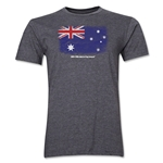 Australia FIFA World Cup Brazil(TM) Men's Premium Flag T-Shirt (Dark Gray)