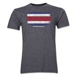 Costa Rica FIFA World Cup Brazil(TM) Men's Premium Flag T-Shirt (Dark Gray)