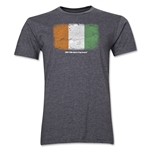 Cote d'Ivoire FIFA World Cup Brazil(TM) Men's Premium Flag T-Shirt (Dark Gray)