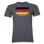 Germany FIFA World Cup Brazil(TM) Men's Premium Flag T-Shirt (Dark Gray)