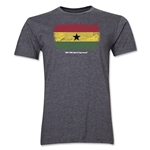 Ghana FIFA World Cup Brazil(TM) Men's Premium Flag T-Shirt (Dark Gray)