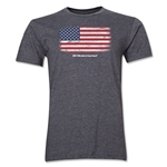 USA FIFA World Cup Brazil(TM) Men's Premium Flag T-Shirt (Dark Gray)