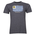 Uruguay FIFA World Cup Brazil(TM) Men's Premium Flag T-Shirt (Dark Gray)