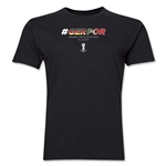 Germany v Portugal 2014 FIFA World Cup Brazil(TM) Men's Premium Match Hashtag T-Shirt (Black)