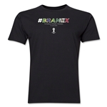 Brazil v Mexico 2014 FIFA World Cup Brazil(TM) Men's Premium Match Hashtag T-Shirt (Black)