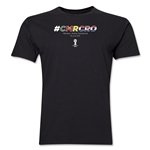 Cameroon v Croatia 2014 FIFA World Cup Brazil(TM) Men's Premium Match Hashtag T-Shirt (Black)