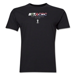 Italy v Costa Rica 2014 FIFA World Cup Brazil(TM) Men's Premium Match Hashtag T-Shirt (Black)