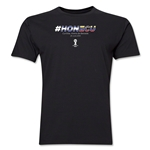 Honduras v Ecuador 2014 FIFA World Cup Brazil(TM) Men's Premium Match Hashtag T-Shirt (Black)