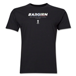 Argentina v Iran 2014 FIFA World Cup Brazil(TM) Men's Premium Match Hashtag T-Shirt (Black)