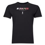 USA v Portugal 2014 FIFA World Cup Brazil(TM) Men's Premium Match Hashtag T-Shirt (Black)