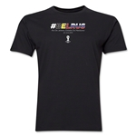 Belgium v Russia 2014 FIFA World Cup Brazil(TM) Men's Premium Match Hashtag T-Shirt (Black)