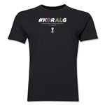 South Korea v Algeria 2014 FIFA World Cup Brazil(TM) Men's Premium Match Hashtag T-Shirt (Black)