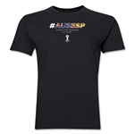 Australia v Spain 2014 FIFA World Cup Brazil(TM) Men's Premium Match Hashtag T-Shirt (Black)