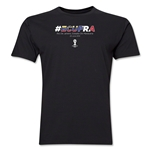 Ecuador v France 2014 FIFA World Cup Brazil(TM) Men's Premium Match Hashtag T-Shirt (Black)