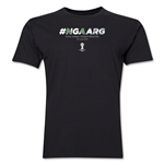 Nigeria v Argentina 2014 FIFA World Cup Brazil(TM) Men's Premium Match Hashtag T-Shirt (Black)