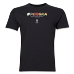 Portugal v Ghana 2014 FIFA World Cup Brazil(TM) Men's Premium Match Hashtag T-Shirt (Black)