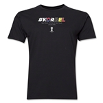 South Korea v Belgium 2014 FIFA World Cup Brazil(TM) Men's Premium Match Hashtag T-Shirt (Black)