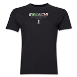 Brazil v Chile 2014 FIFA World Cup Brazil(TM) Men's Premium Match Hashtag T-Shirt (Black)