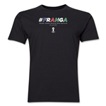 France v Nigeria 2014 FIFA World Cup Brazil(TM) Men's Premium Match Hashtag T-Shirt (Black)