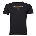 Germany v Algeria 2014 FIFA World Cup Brazil(TM) Men's Premium Match Hashtag T-Shirt (Black)