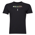 Brazil v Colombia 2014 FIFA World Cup Brazil(TM) Men's Premium Match Hashtag T-Shirt (Black)