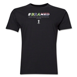 Brazil v Netherlands 2014 FIFA World Cup Brazil(TM) Men's Premium Match Hashtag T-Shirt (Black)