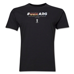 Germany v. Argentina  2014 FIFA World Cup Brazil(TM) Men's Premium Match Hashtag T-Shirt (Black)