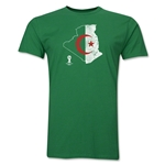 Algeria 2014 FIFA World Cup Brazil(TM) Distressed Men's Premium Flag in Country T-Shirt (Green)