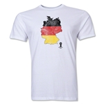 Germany 2014 FIFA World Cup Brazil(TM) Distressed Men's Premium Flag in Country T-Shirt (White)