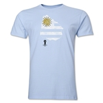 Uruguay 2014 FIFA World Cup Brazil(TM) Distressed Men's Premium Flag in Country T-Shirt (Sky Blue)