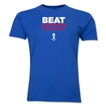USA Beat Ghana 2014 FIFA World Cup Brazil(TM) Men's Premium T-Shirt (Royal)