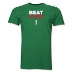 Mexico Beat Croatia 2014 FIFA World Cup Brazil(TM) Men's Premium T-Shirt (Green)