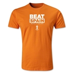 Netherlands Beat Spain 2014 FIFA World Cup Brazil(TM) Men's Premium T-Shirt (Orange)