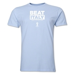 Uruguay Beat Italy 2014 FIFA World Cup Brazil(TM) Men's Premium T-Shirt (Sky)