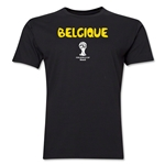 Belgium 2014 FIFA World Cup Brazil(TM) Men's Premium Native Language T-Shirt (Black)
