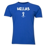 Greece 2014 FIFA World Cup Brazil(TM) Men's Premium Native Language T-Shirt (Black)