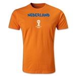 Netherlands 2014 FIFA World Cup Brazil(TM) Men's Premium Native Language T-Shirt (Black)