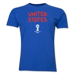 USA 2014 FIFA World Cup Brazil(TM) Men's Premium Native Language T-Shirt (Black)