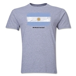 Argentina FIFA World Cup Brazil(TM) Men's Premium Flag T-Shirt (Gray)