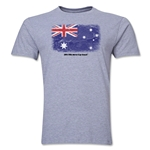 Australia FIFA World Cup Brazil(TM) Men's Premium Flag T-Shirt (Gray)