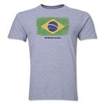 Brazil FIFA World Cup Brazil(TM) Men's Premium Flag T-Shirt (Gray)