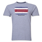 Costa Rica FIFA World Cup Brazil(TM) Men's Premium Flag T-Shirt (Gray)
