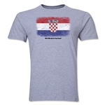 Croatia FIFA World Cup Brazil(TM) Men's Premium Flag T-Shirt (Gray)