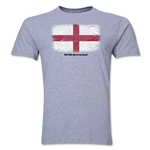 England FIFA World Cup Brazil(TM) Men's Premium Flag T-Shirt (Gray)